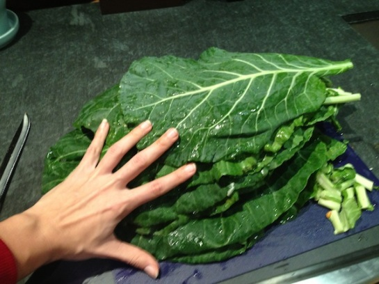 Collard greens are huge.