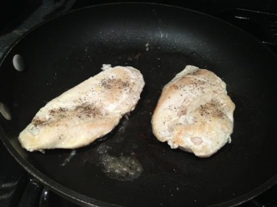 Chicken at work.